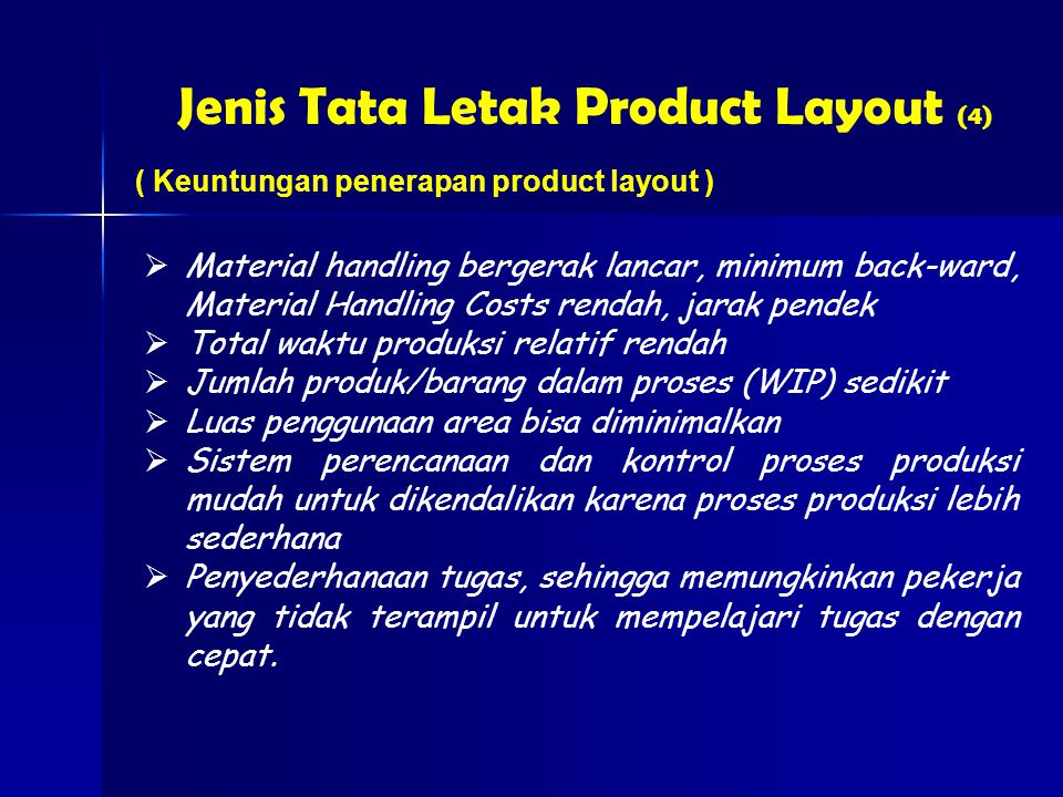 Jenis Tata Letak Product Layout (4)