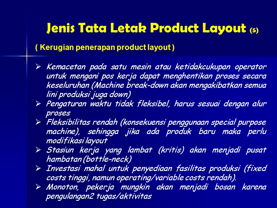 Jenis Tata Letak Product Layout (5)