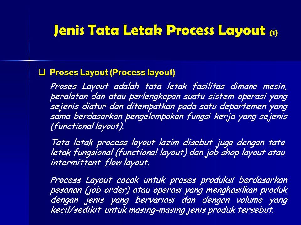 Jenis Tata Letak Process Layout (1)