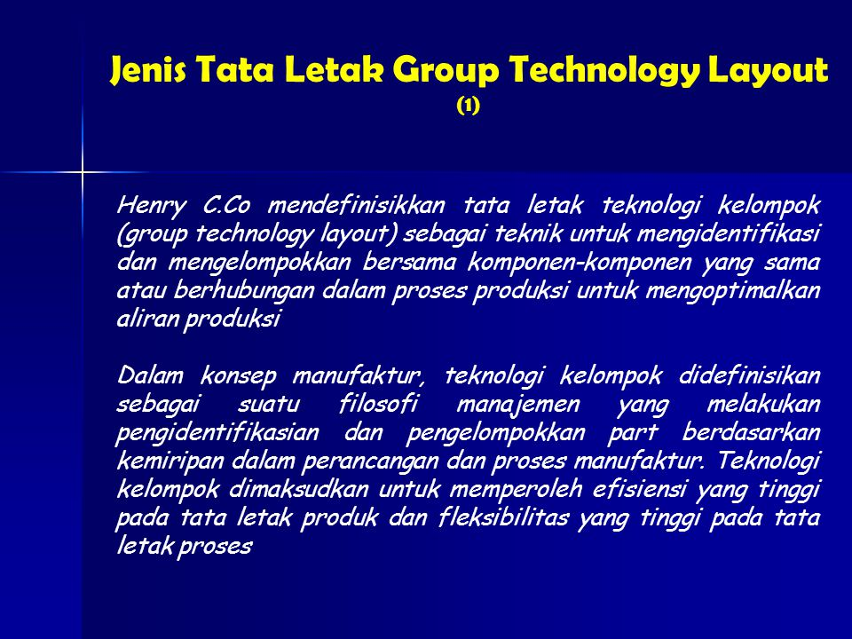Jenis Tata Letak Group Technology Layout (1)