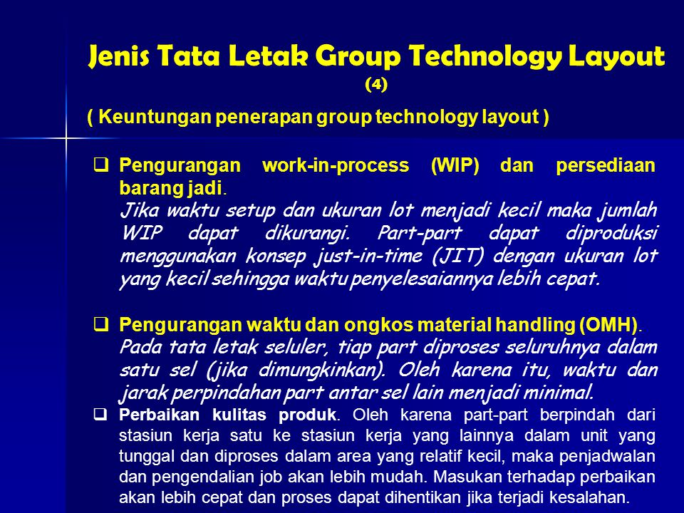 Jenis Tata Letak Group Technology Layout (4)
