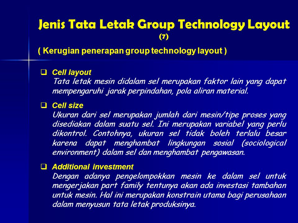 Jenis Tata Letak Group Technology Layout (7)