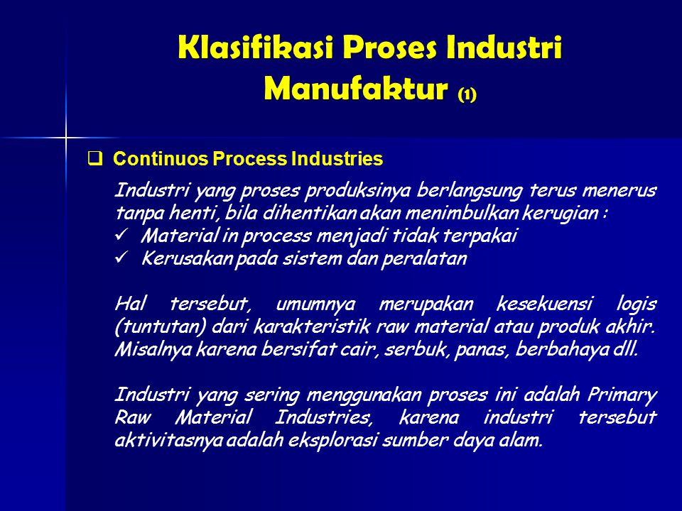 Klasifikasi Proses Industri Manufaktur (1)