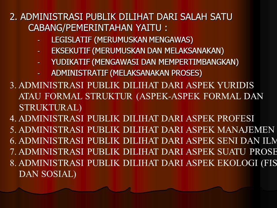 3. ADMINISTRASI PUBLIK DILIHAT DARI ASPEK YURIDIS