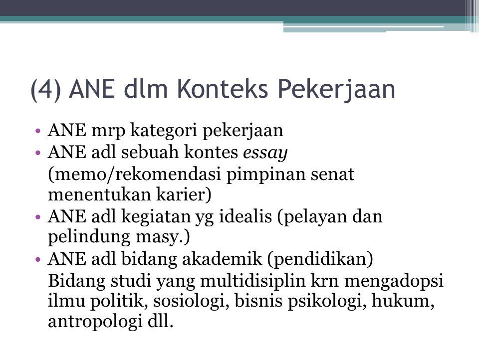 (4) ANE dlm Konteks Pekerjaan