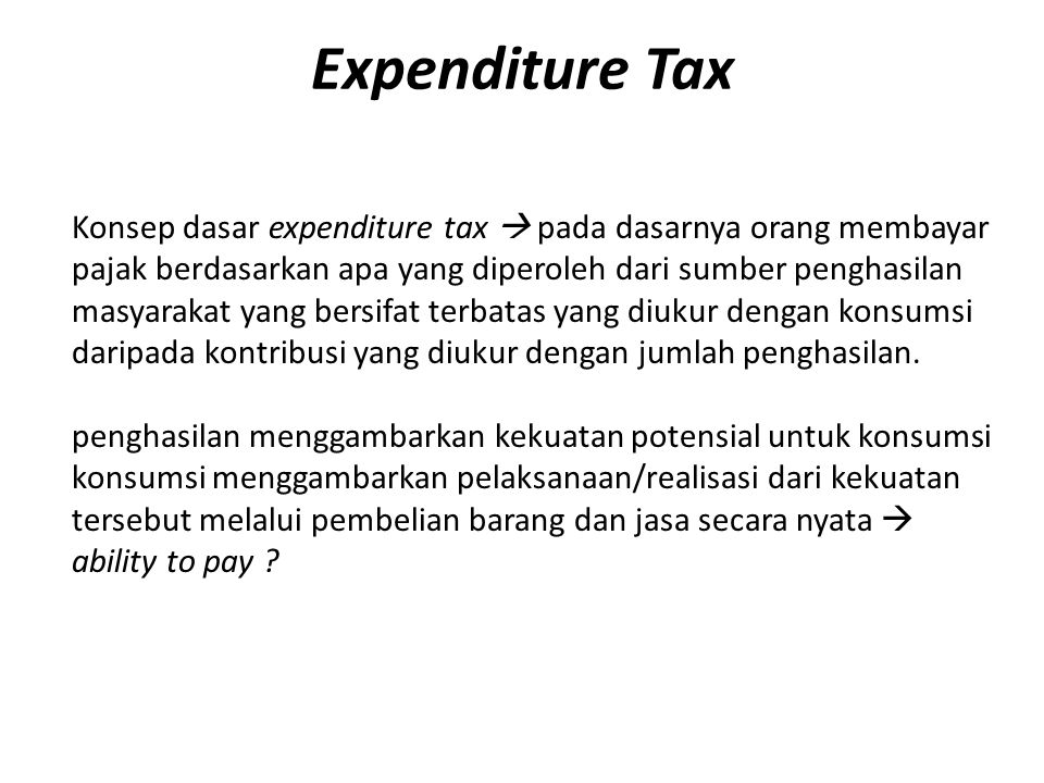 Expenditure Tax