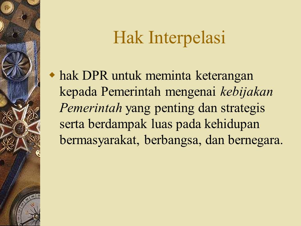 Hak Interpelasi