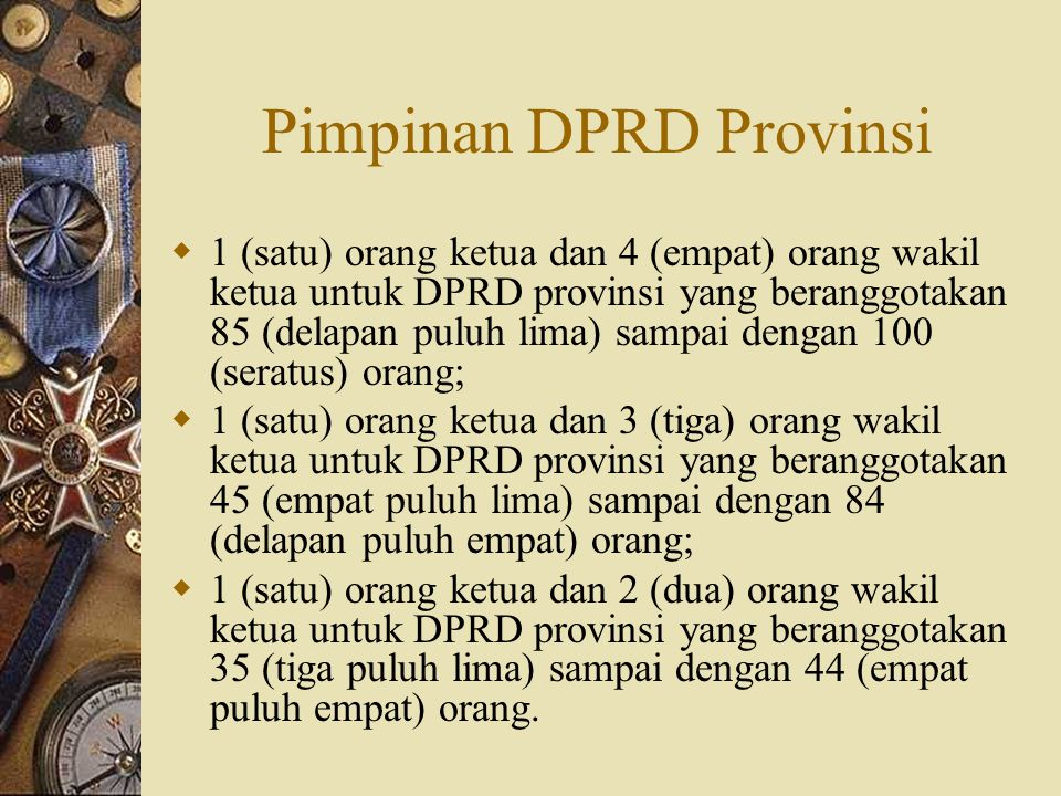Pimpinan DPRD Provinsi