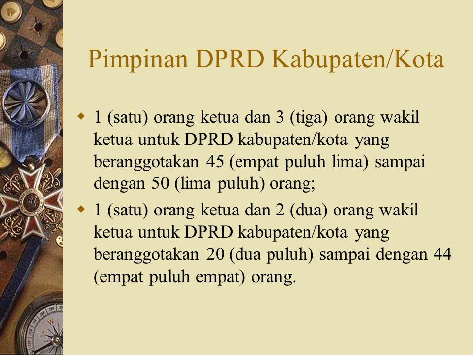 Pimpinan DPRD Kabupaten/Kota