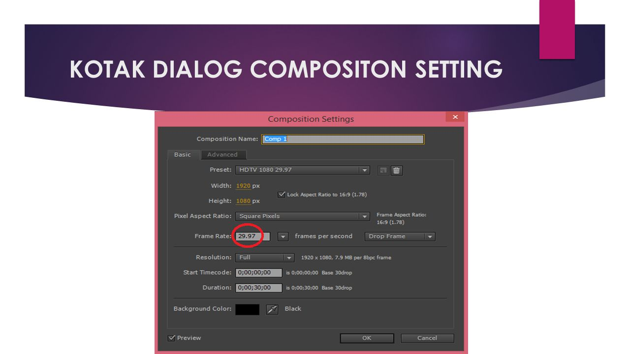 KOTAK DIALOG COMPOSITON SETTING