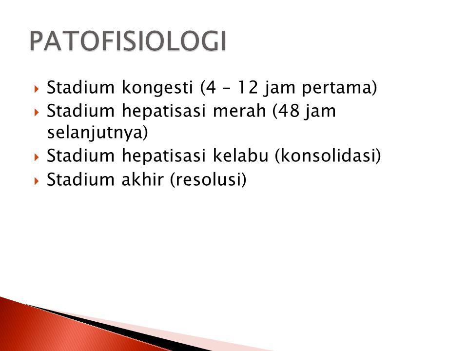 PATOFISIOLOGI Stadium kongesti (4 – 12 jam pertama)
