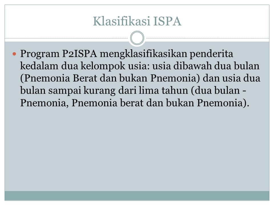 Klasifikasi ISPA