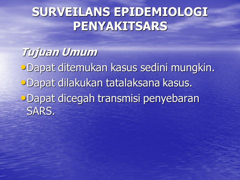 SURVEILANS EPIDEMIOLOGI PENYAKITSARS
