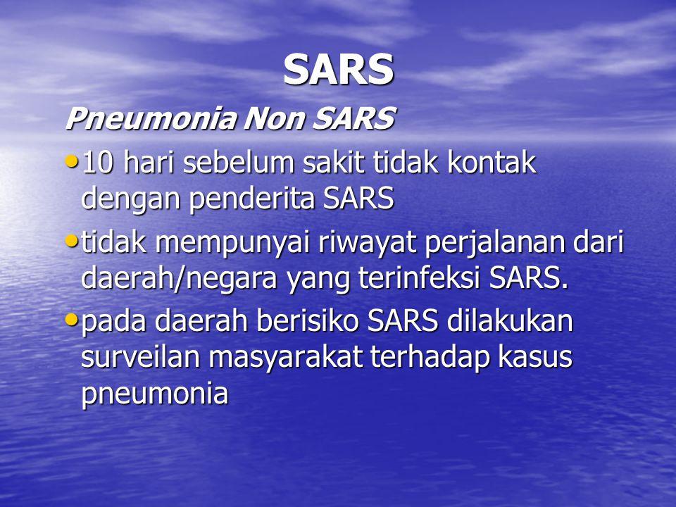 SARS Pneumonia Non SARS