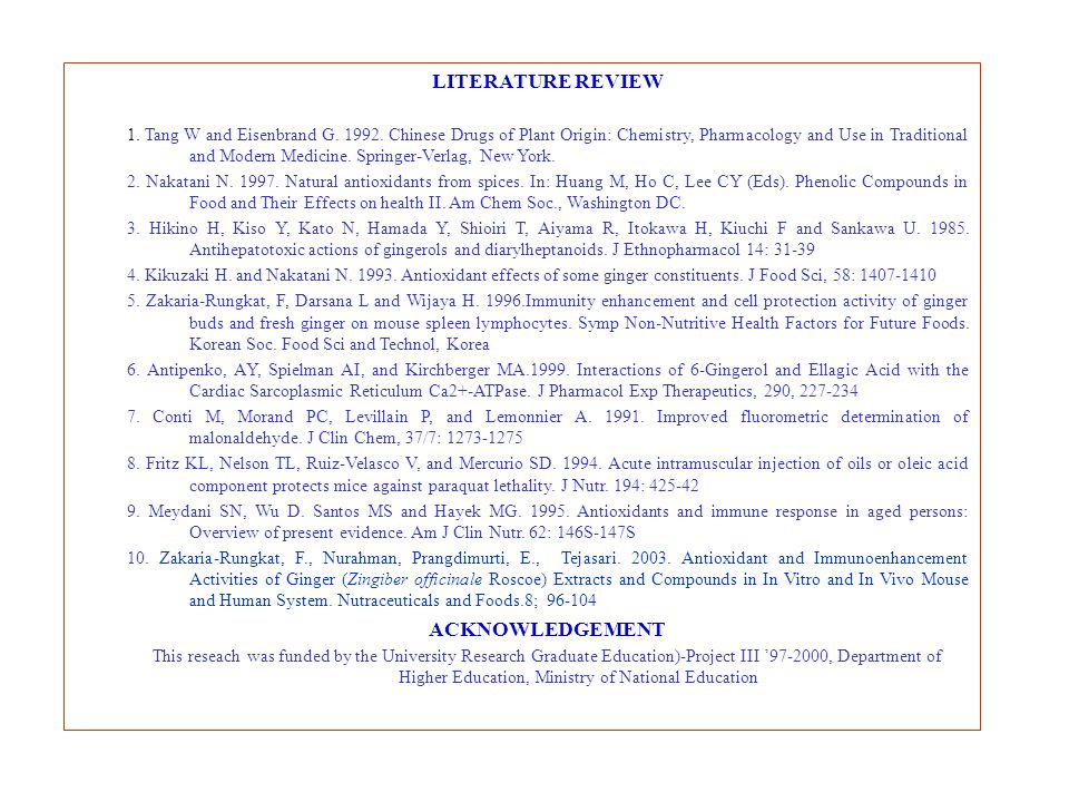 LITERATURE REVIEW ACKNOWLEDGEMENT