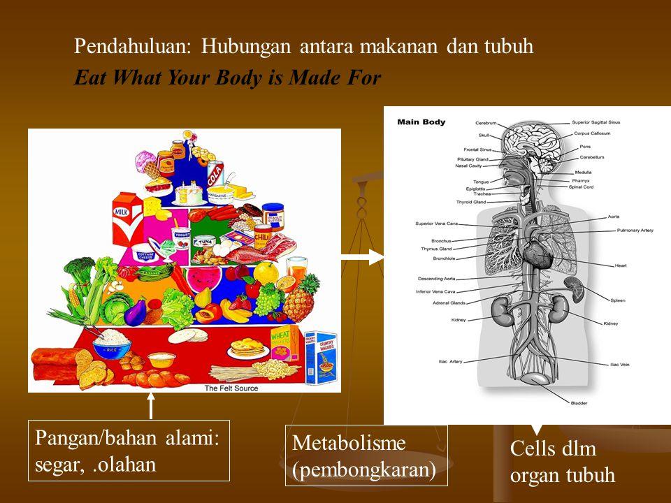 Pendahuluan: Hubungan antara makanan dan tubuh