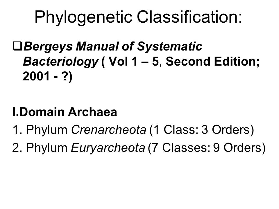 Phylogenetic Classification: