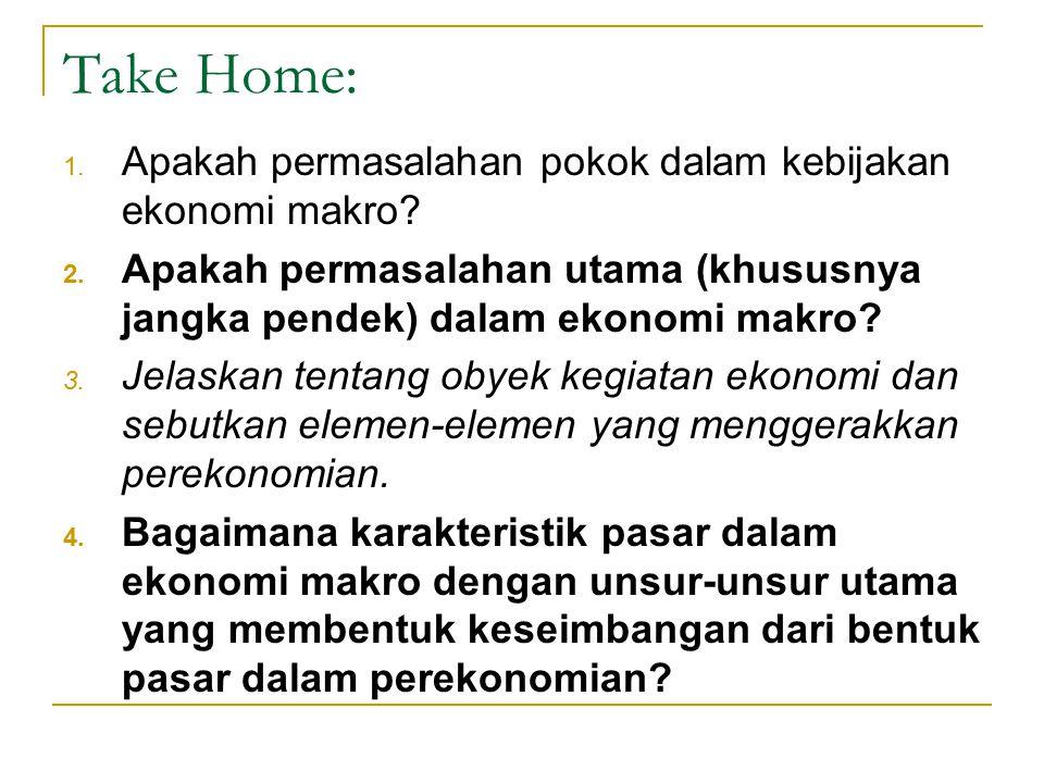 Take Home: Apakah permasalahan pokok dalam kebijakan ekonomi makro