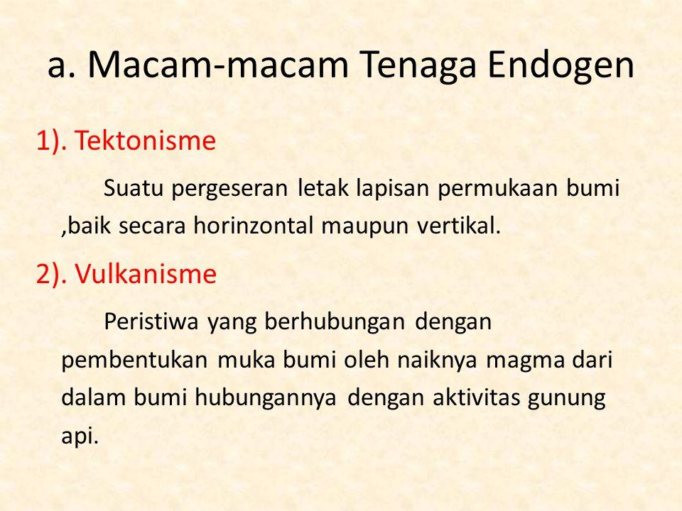 a. Macam-macam Tenaga Endogen