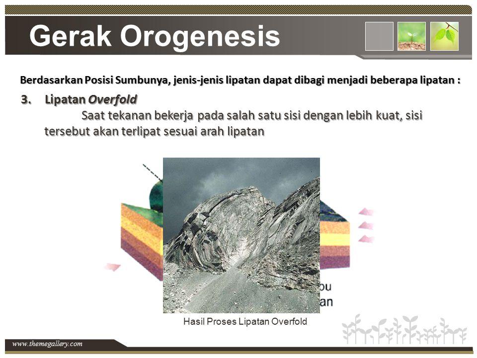 Gerak Orogenesis Lipatan Overfold