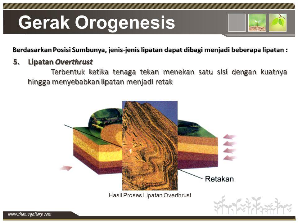 Gerak Orogenesis Lipatan Overthrust