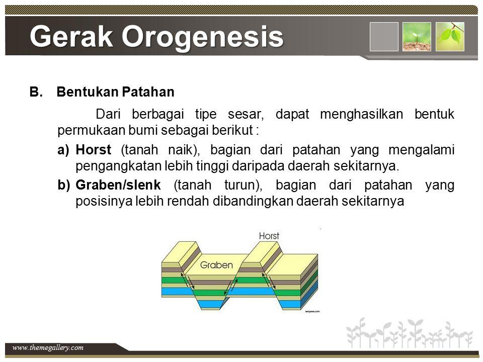 Gerak Orogenesis Bentukan Patahan