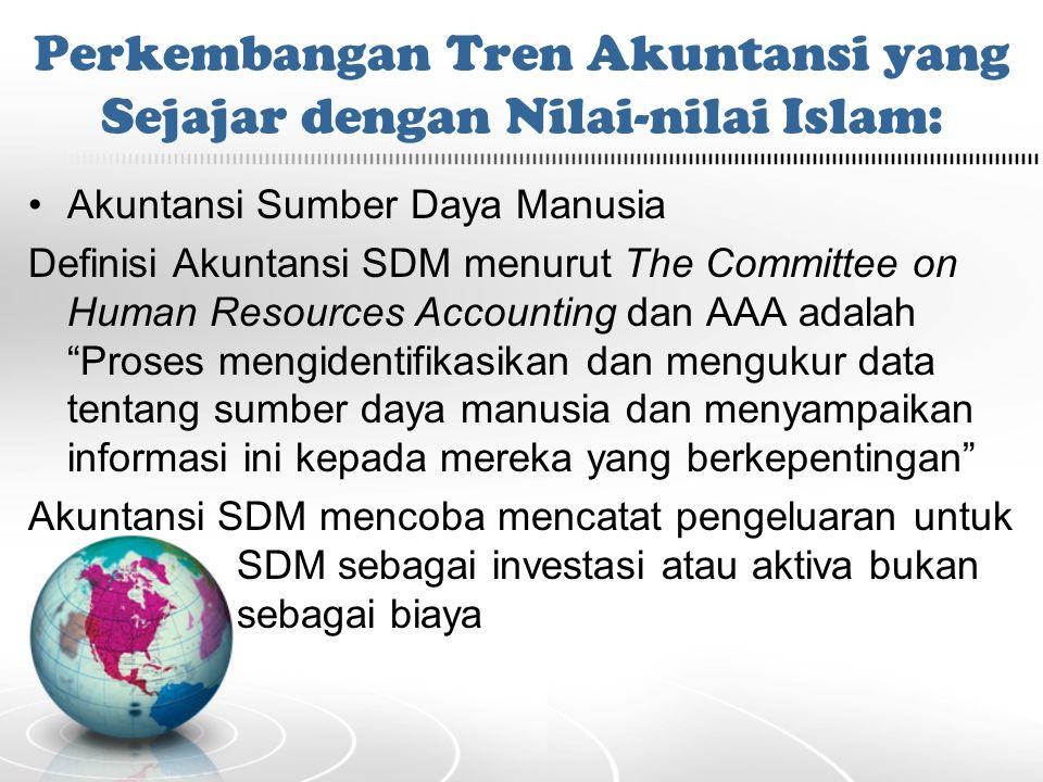 Perkembangan Tren Akuntansi yang Sejajar dengan Nilai-nilai Islam: