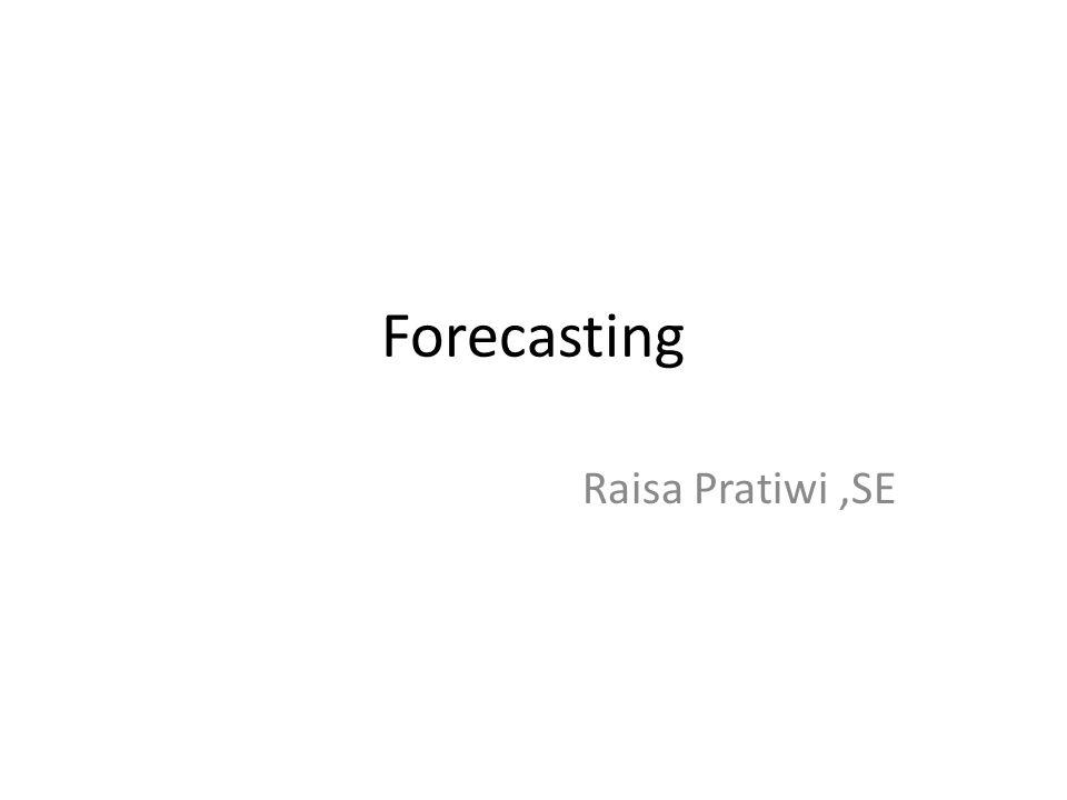 Forecasting Raisa Pratiwi ,SE