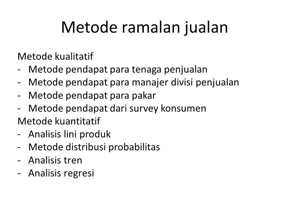 Metode ramalan jualan Metode kualitatif