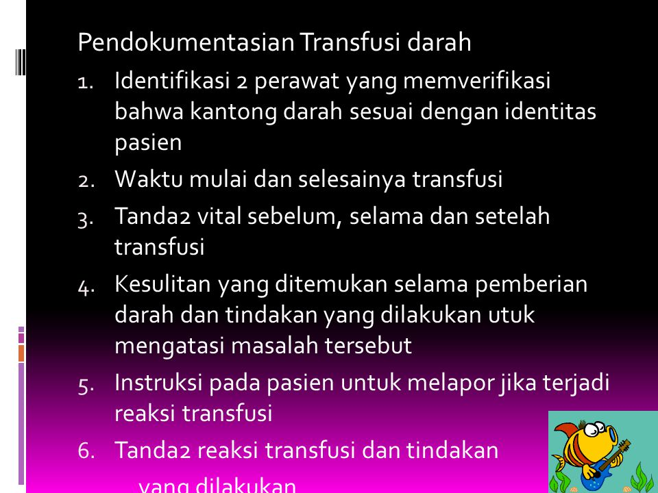 Pendokumentasian Transfusi darah