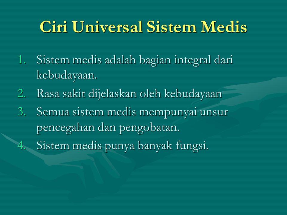 Ciri Universal Sistem Medis