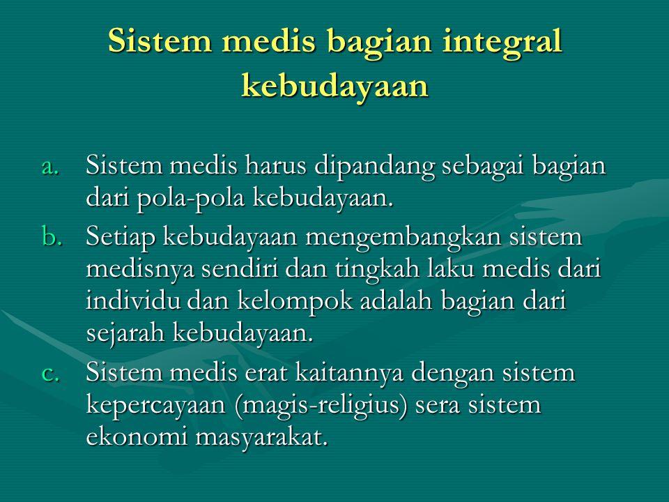Sistem medis bagian integral kebudayaan
