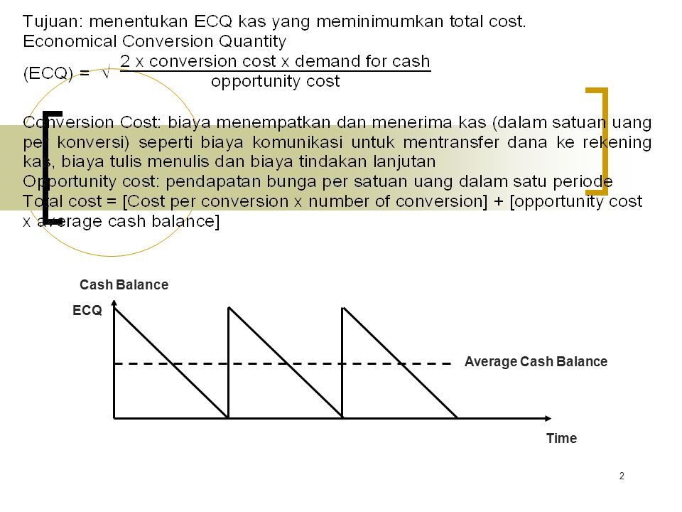 Cash Balance Time ECQ Average Cash Balance