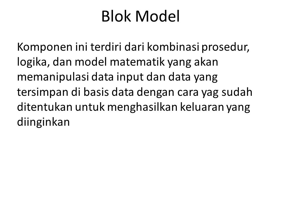 Blok Model