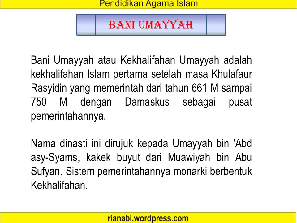 Bani Umayyah