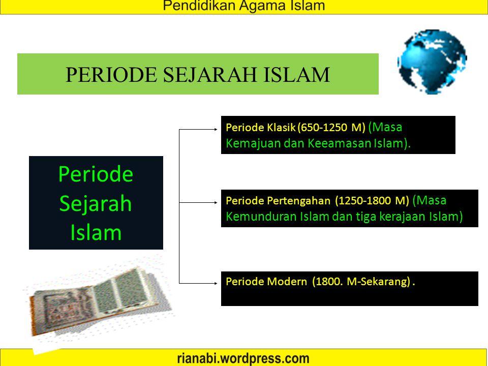 Periode Sejarah Islam PERIODE SEJARAH ISLAM