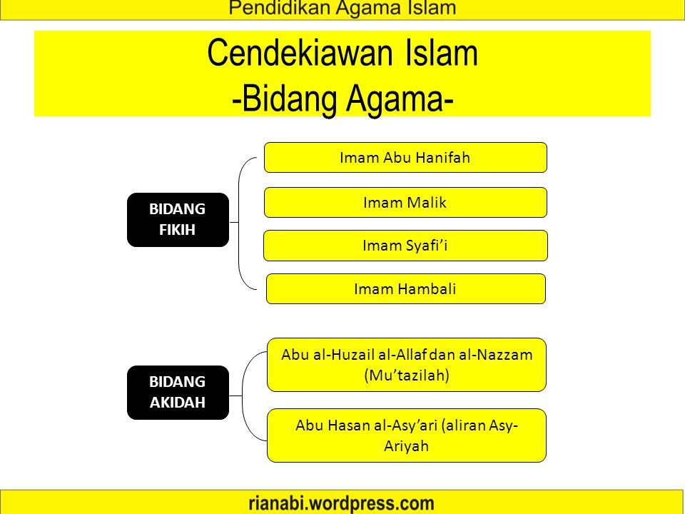 Cendekiawan Islam -Bidang Agama-