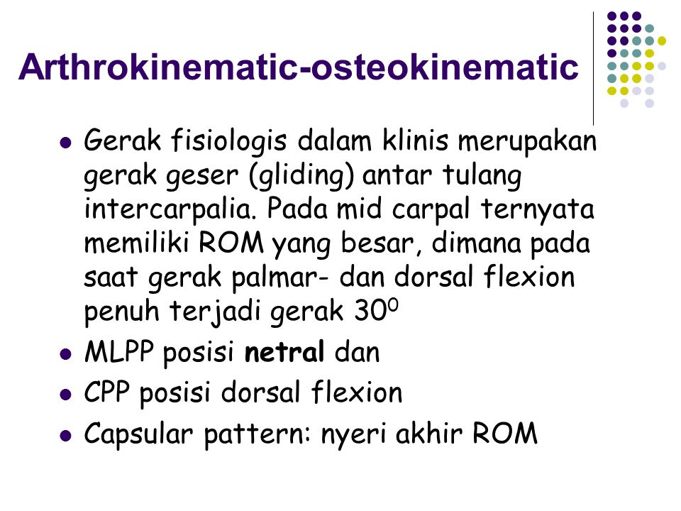 Arthrokinematic-osteokinematic