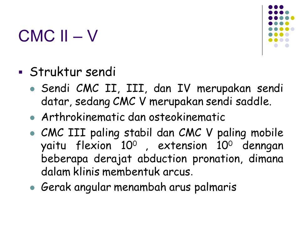 CMC II – V Struktur sendi