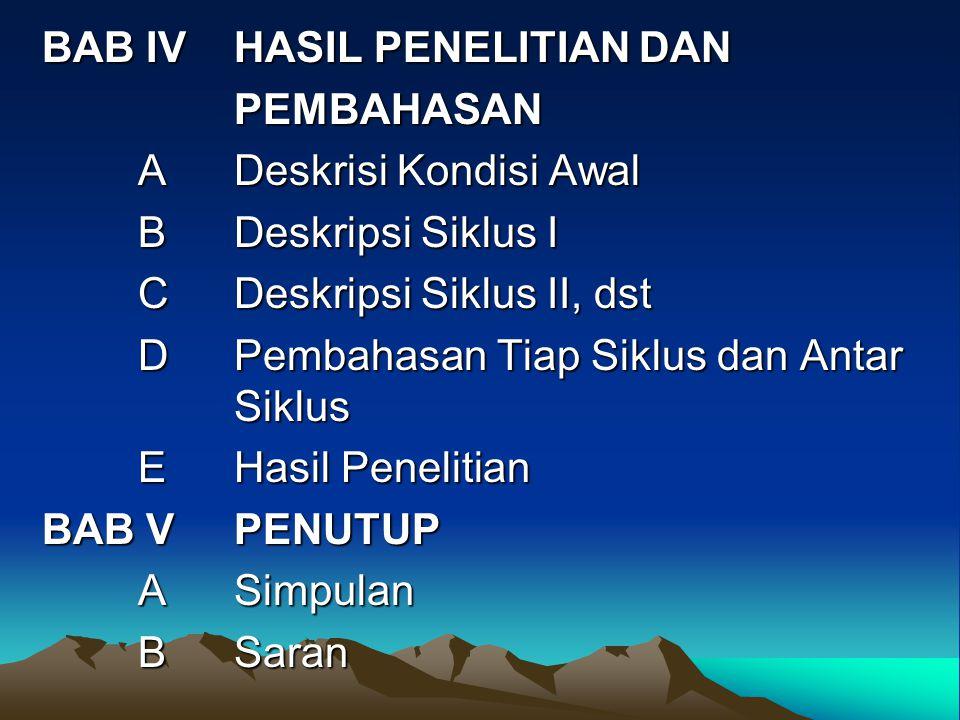 BAB IV HASIL PENELITIAN DAN