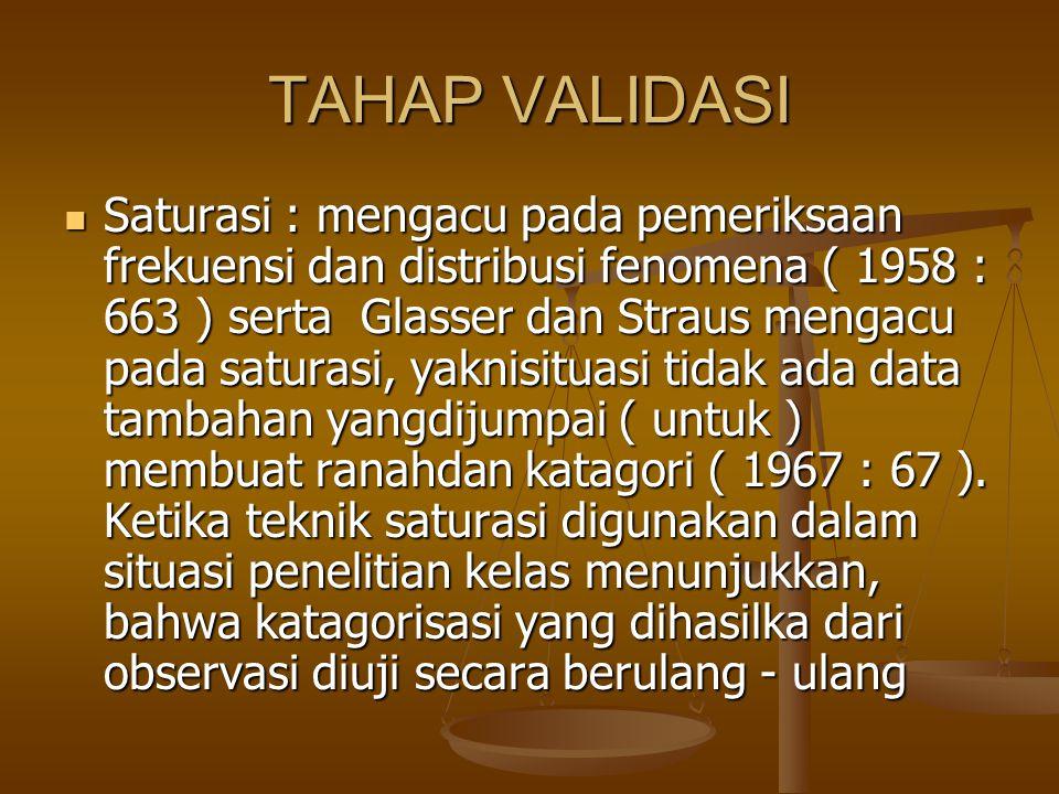 TAHAP VALIDASI
