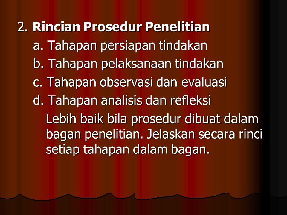2. Rincian Prosedur Penelitian