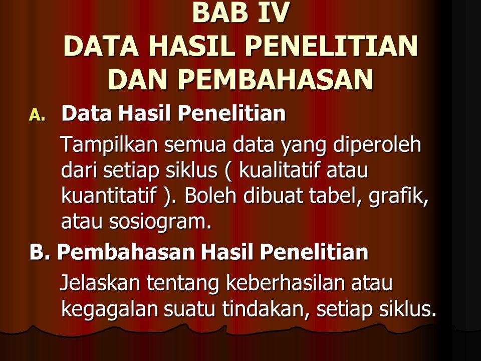 BAB IV DATA HASIL PENELITIAN DAN PEMBAHASAN
