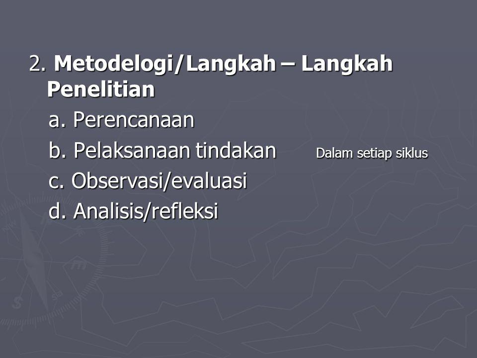 2. Metodelogi/Langkah – Langkah Penelitian
