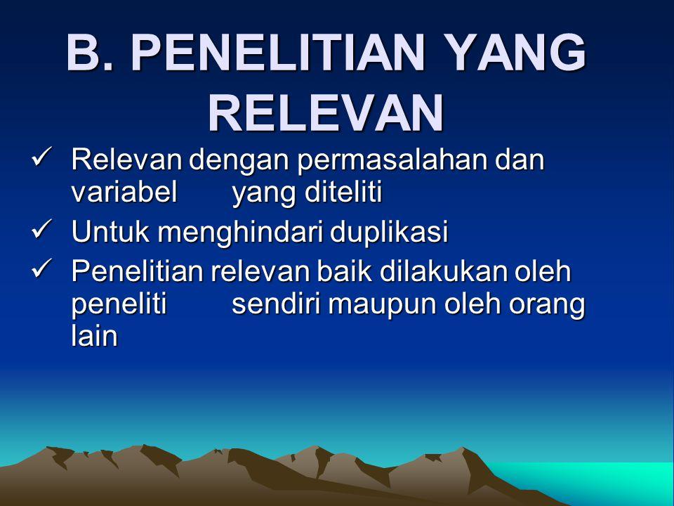 B. PENELITIAN YANG RELEVAN