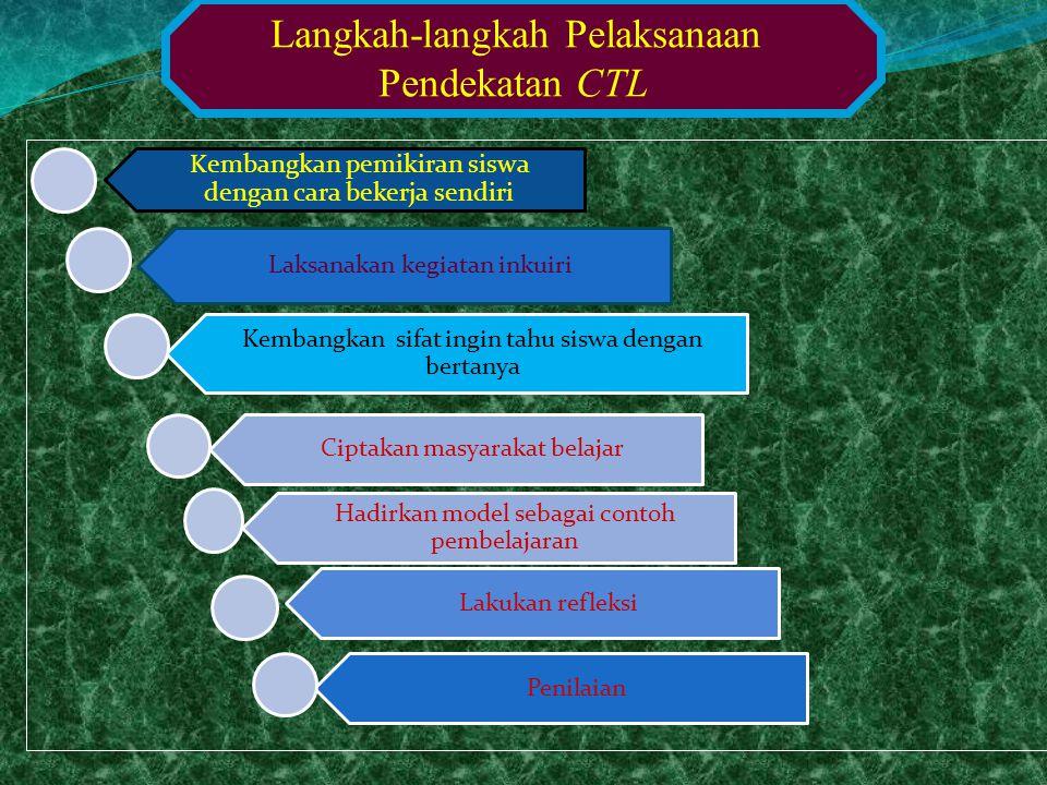 Langkah-langkah Pelaksanaan Pendekatan CTL