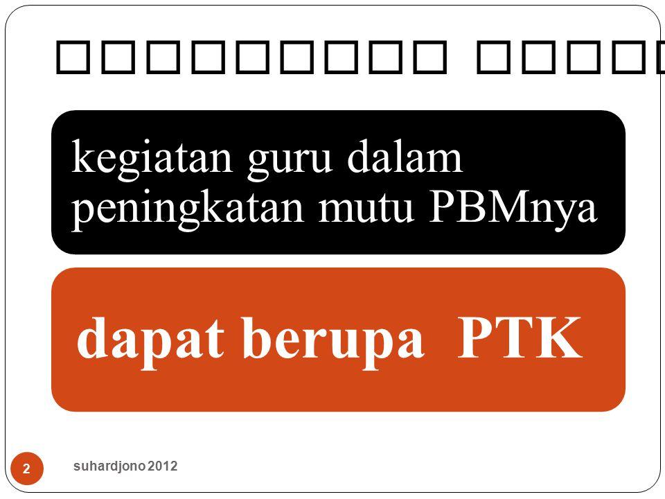 dapat berupa PTK Mengingat kembali.. suhardjono 2012