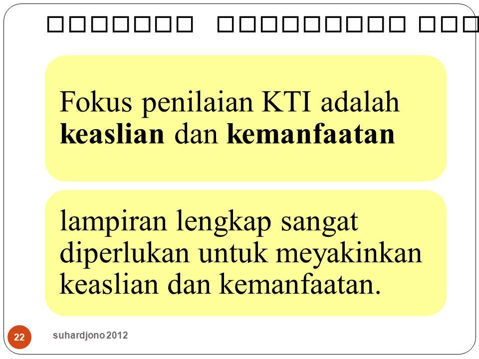 Menilai Publikasi Ilmiah (KTI)