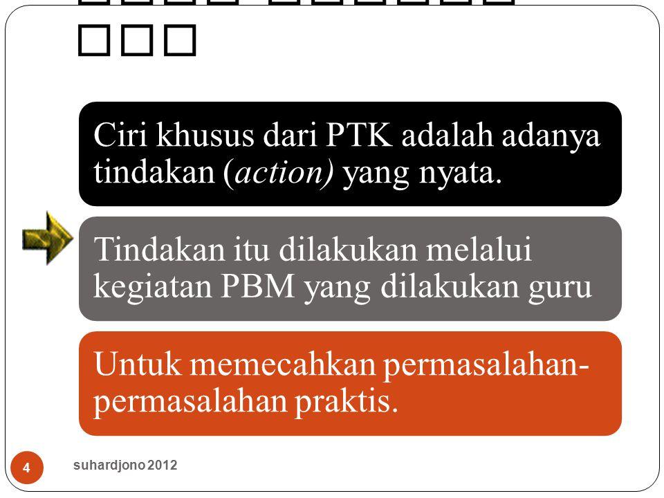 Ciri khusus PTK suhardjono 2012
