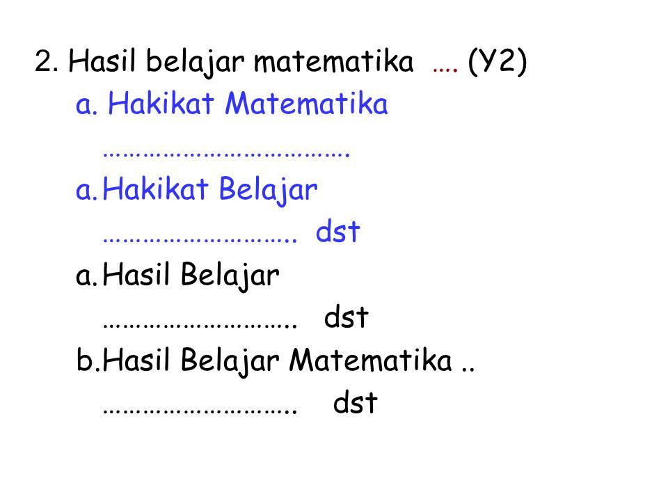 2. Hasil belajar matematika …. (Y2)